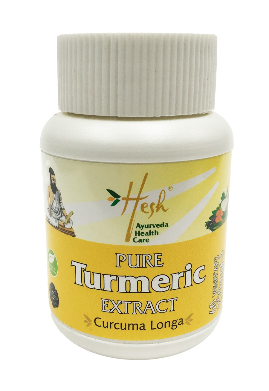 Pure Turmeric extract capsule bottle