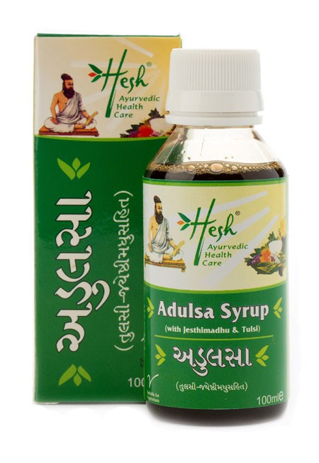 Adulsa Tulsi Syrup bottle